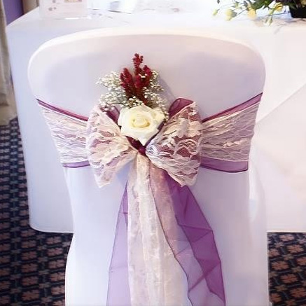 lace sashes and bows esta s chair covers and photo booth hire in kent